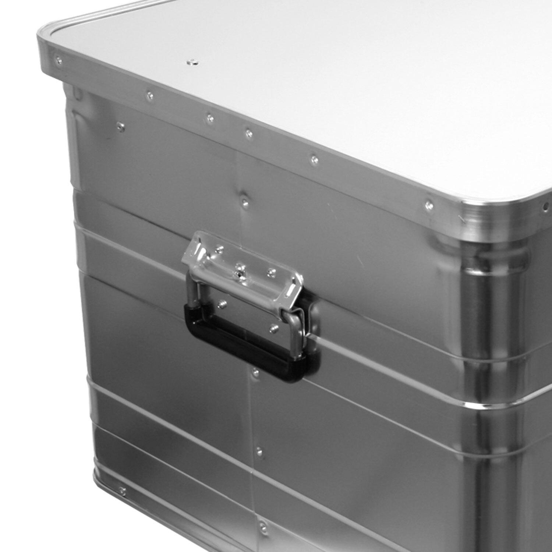 alukiste alubox lagerbox lagerkiste 140 liter 90 cm truhe box kiste mit deckel 4014688311408 ebay. Black Bedroom Furniture Sets. Home Design Ideas