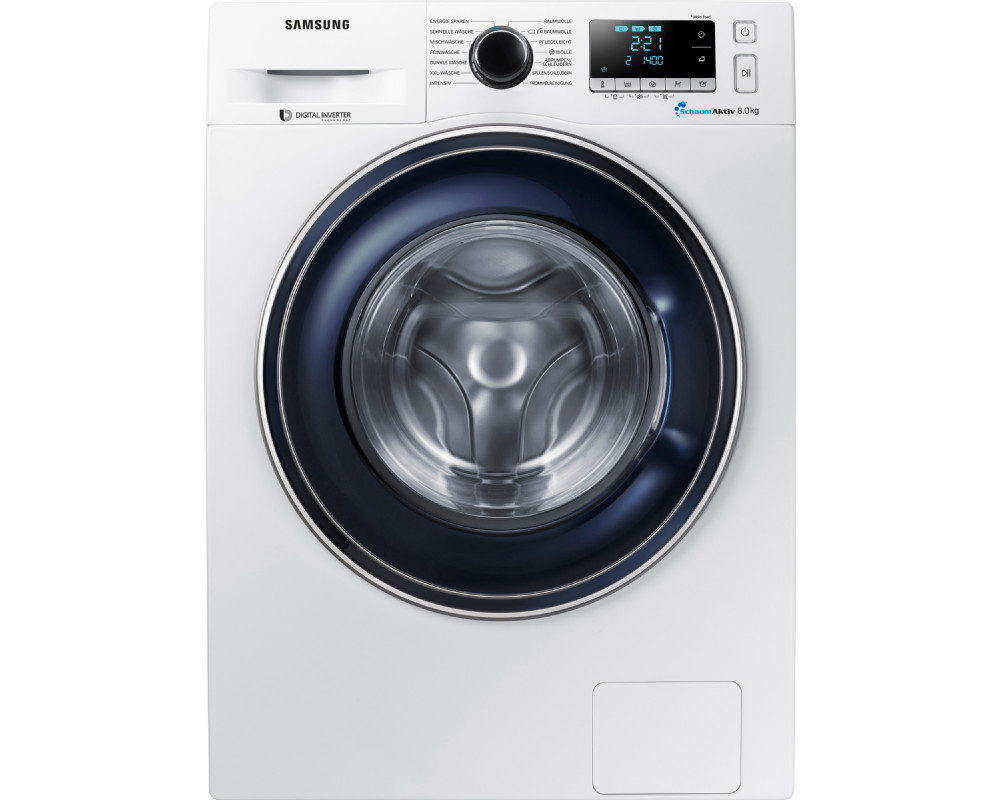 samsung ww81j5436fw eg 8 kg waschmaschine frontlader 1400 u min eek a wei ebay. Black Bedroom Furniture Sets. Home Design Ideas