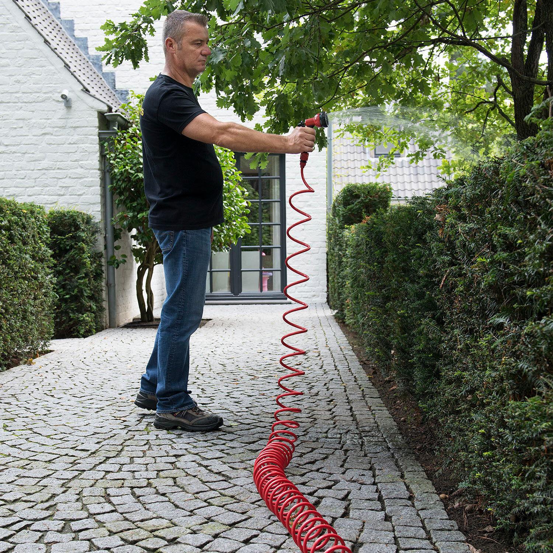 Wandhalterung Spiral Gartenschlauch 1//2 Zoll Wasserschlauch Gartenbrause 15 m