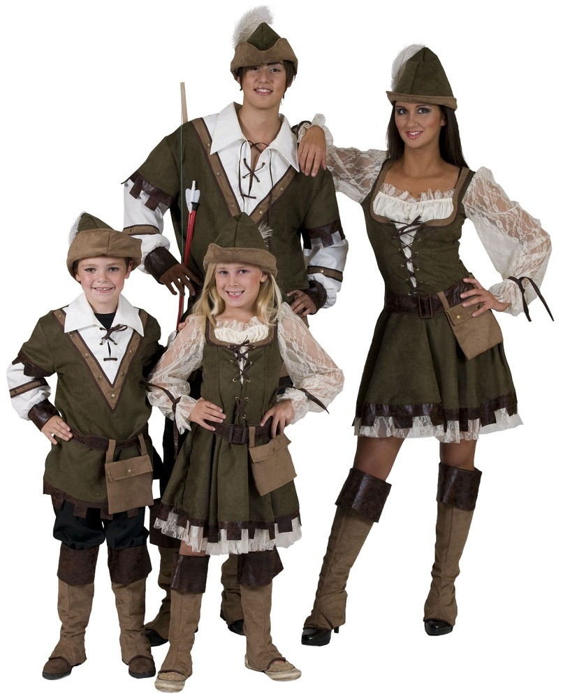robin hood girl kost m f r m dchen abenteuer karneval kleid j gerin lady marian ebay. Black Bedroom Furniture Sets. Home Design Ideas