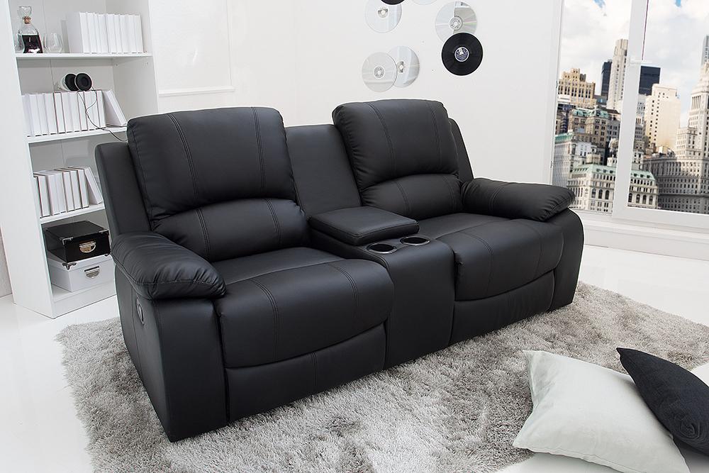 2er kinosessel hall of fame schwarz mit cupholder sessel kinositze fernsehsessel ebay. Black Bedroom Furniture Sets. Home Design Ideas