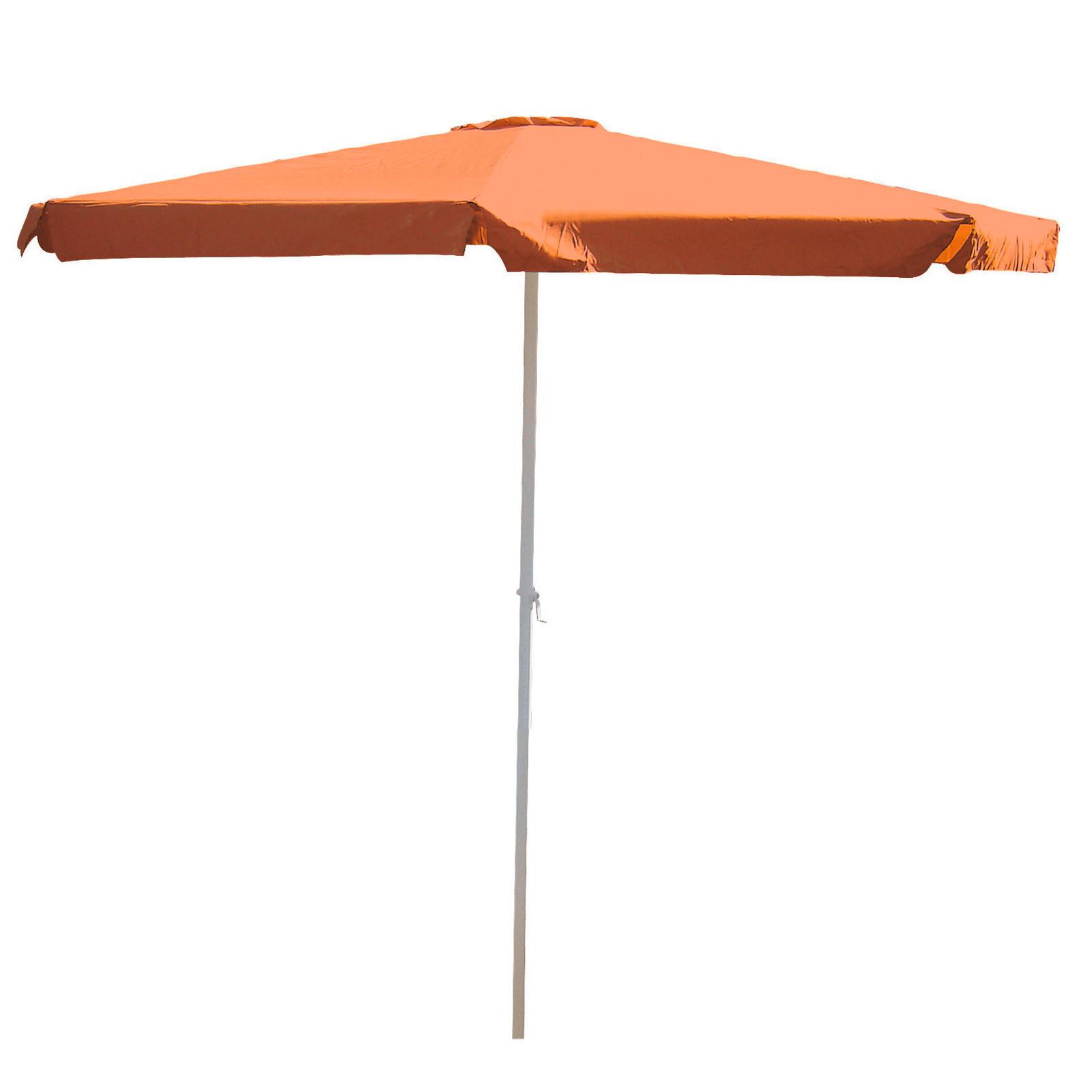 alu marktschirm kurbelschirm sonnenschirm gartenschirm 3 5 m kurbel terracotta ebay. Black Bedroom Furniture Sets. Home Design Ideas