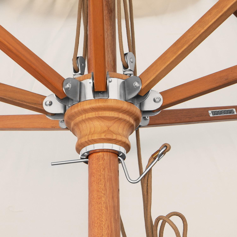 Sonnenschirm 3,5 m rund Gartenschirm Natural neues Strebensystem helles Holz