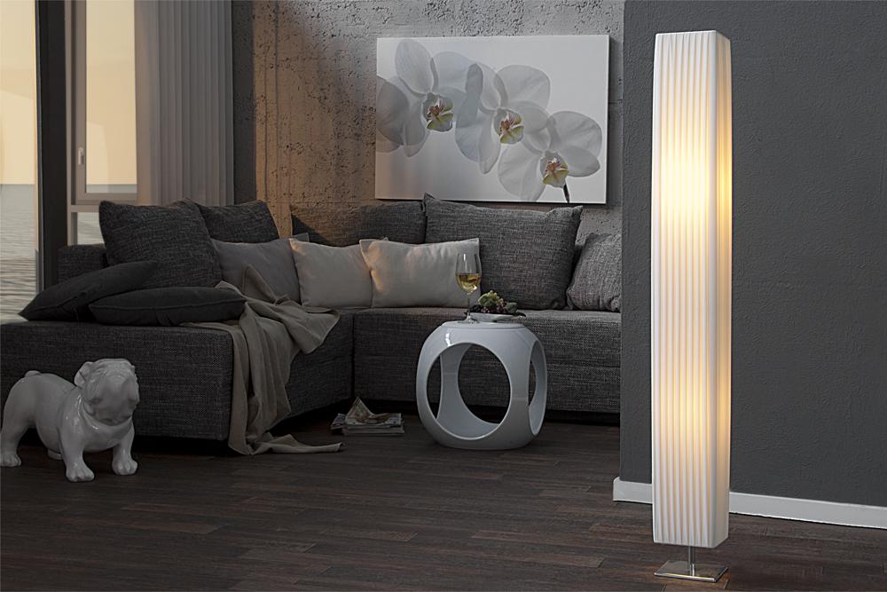 Design Stehlampe PARIS Latex Stehleuchte Lampe Klassiker Lichtsäule ...
