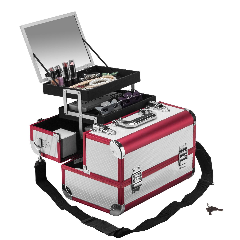 beauty case 4 f cher spiegel alu koffer kosmetikkoffer multikoffer schminkkoffer ebay. Black Bedroom Furniture Sets. Home Design Ideas
