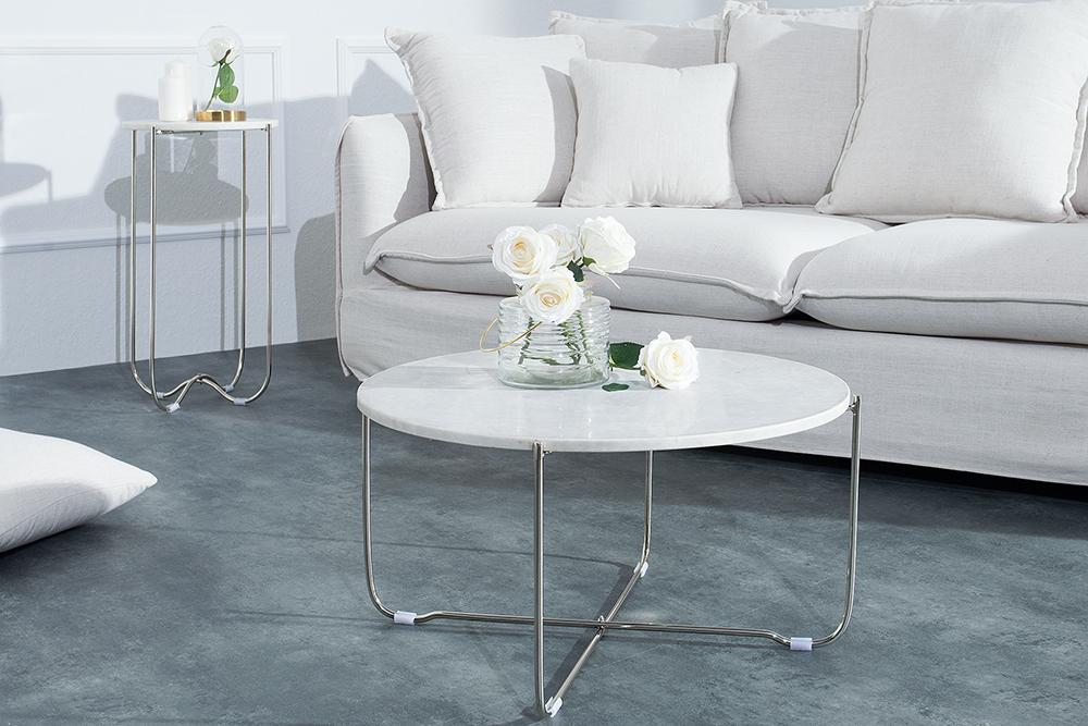 Design couchtisch noble wei er marmor tisch sofatisch for Sofatisch marmor