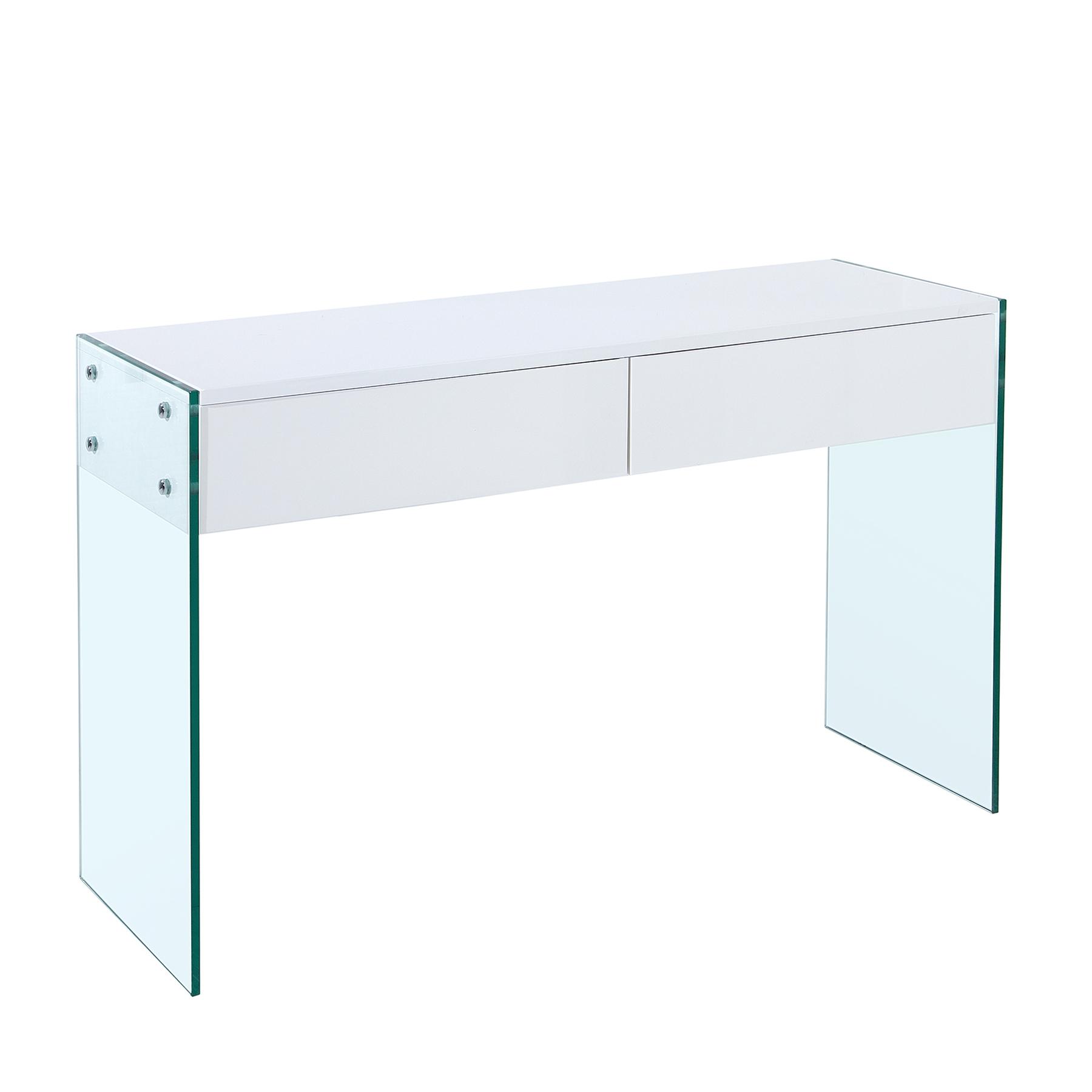 design konsole floating wei hochglanz glas komposition sekret r 2 schubladen ebay. Black Bedroom Furniture Sets. Home Design Ideas
