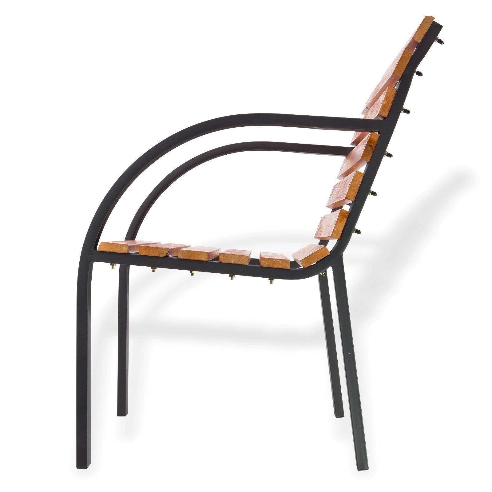 gartenm bel gartenstuhl gartensessel holzstuhl stuhl modern 55cm holz metall ebay. Black Bedroom Furniture Sets. Home Design Ideas