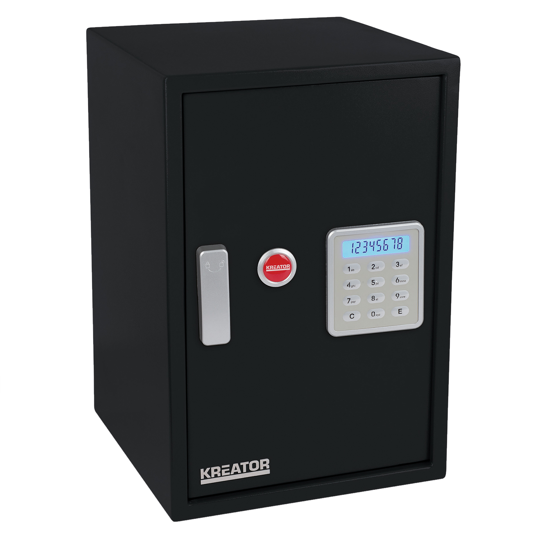 Kreator Elektronischer Safe Haussafe Stahltresor LCD Anzeige 5 mm Türstärke