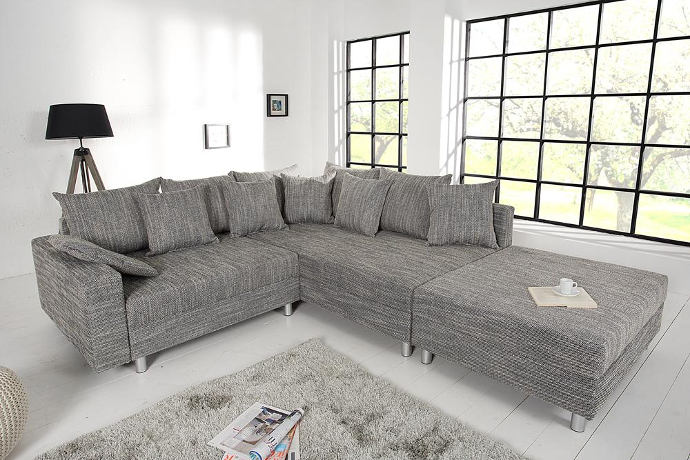 design ecksofa loft xl sofa 215cm wohnlandschaft couch couchgarnitur eckcouch ebay. Black Bedroom Furniture Sets. Home Design Ideas