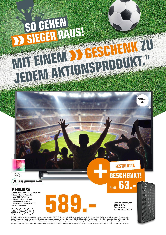 PHILIPS 55PUS6262/12, 139 cm (55 Zoll), UHD 4K + WD Festplatte   eBay