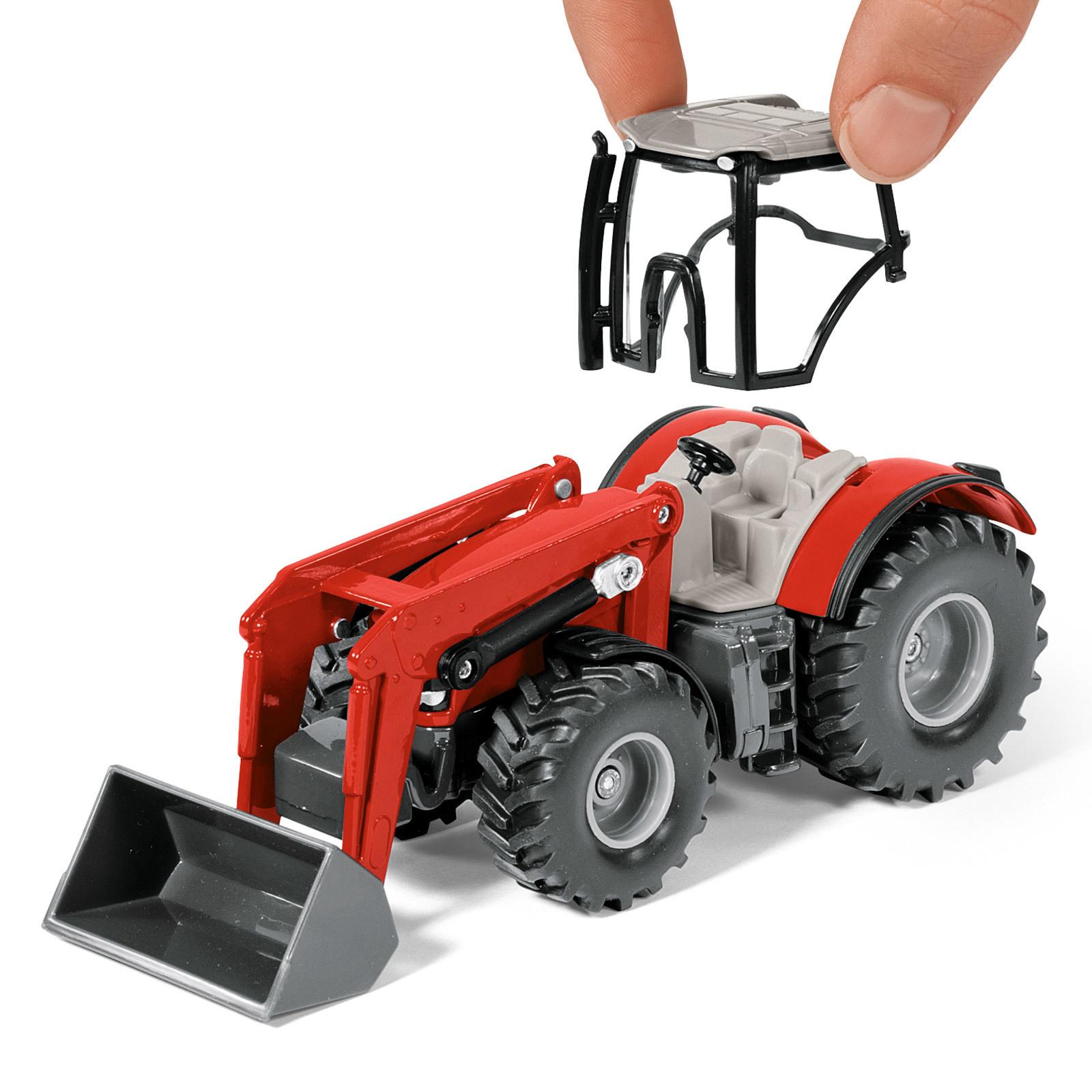 siku spielzeug massey ferguson traktor mit p ttinger jumbo. Black Bedroom Furniture Sets. Home Design Ideas