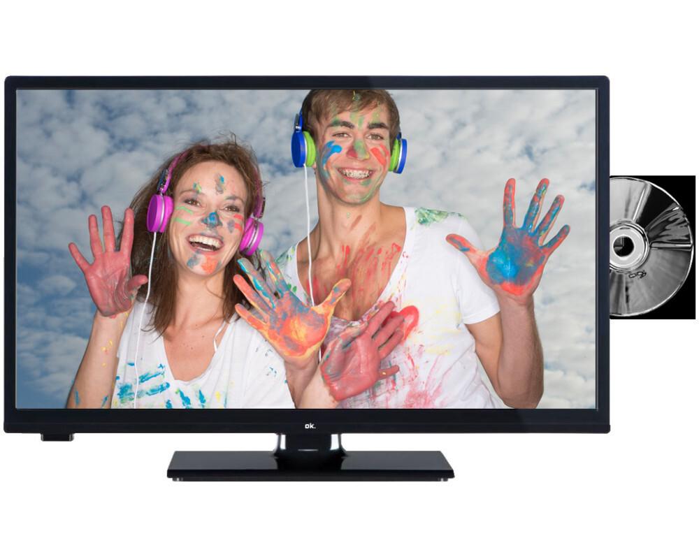 ok ole 24650h tb dvd 61cm 24 hd ready led tv 100hz cmp dvb t2 c s ebay. Black Bedroom Furniture Sets. Home Design Ideas