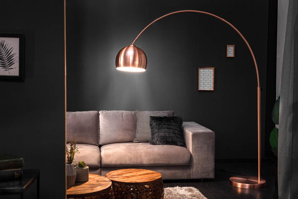Bogenlampe LOUNGE DEAL 170-210cm kupfer Stehlampe ...